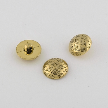 30L (19mm) Black & Gold Metal Button