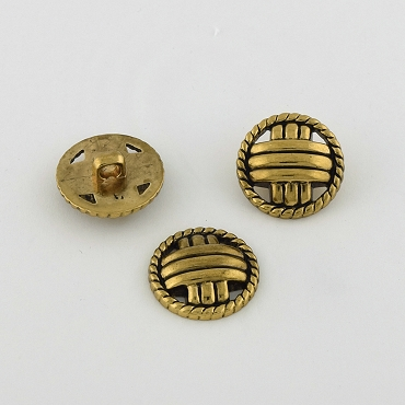 32L (21.5mm) Gold Metal Button