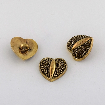 36L (23mm) Novelty Gold Metal Button