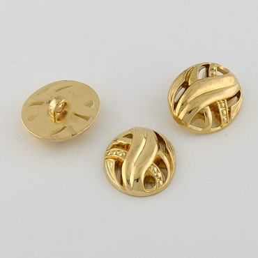 40L (25.5mm) Gold Metal Button