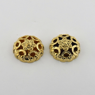 24L & 40L Black & Gold Novelty Metal Button