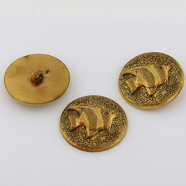 60L (38mm) Gold Metal Button