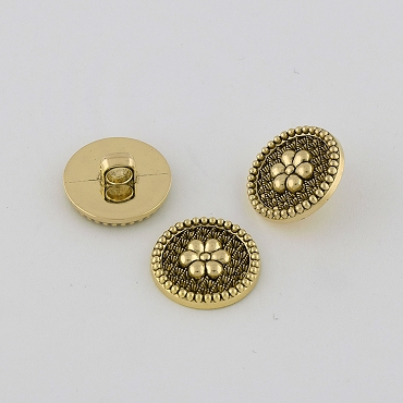 36L & 40L Novelty Gold Metal Button