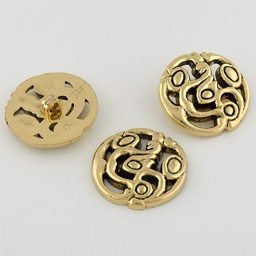 55L (35mm) Gold Metal Button