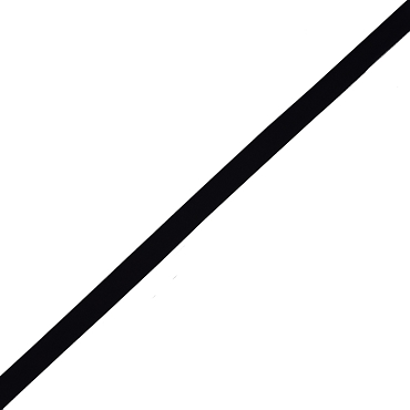 5/8 inch (16mm) Rayon Double Face Satin Ribbon (Black Matte)