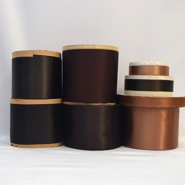 Rayon Double Faced Satin Ribbon (Brown A)