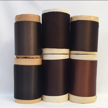 Rayon Double Faced Satin Ribbon (Brown C)