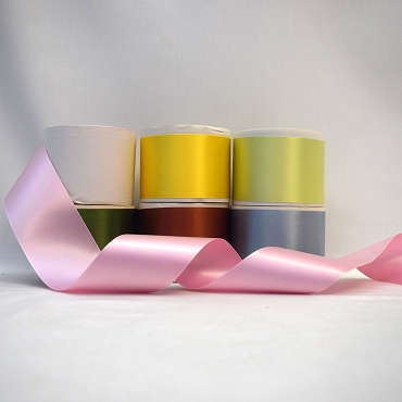 2-1/4  (57mm) Acetate Blend Blend Double Face Satin Ribbon
