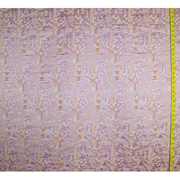 Vintage Scalamandré Ethnic Silk Brocade Fabric