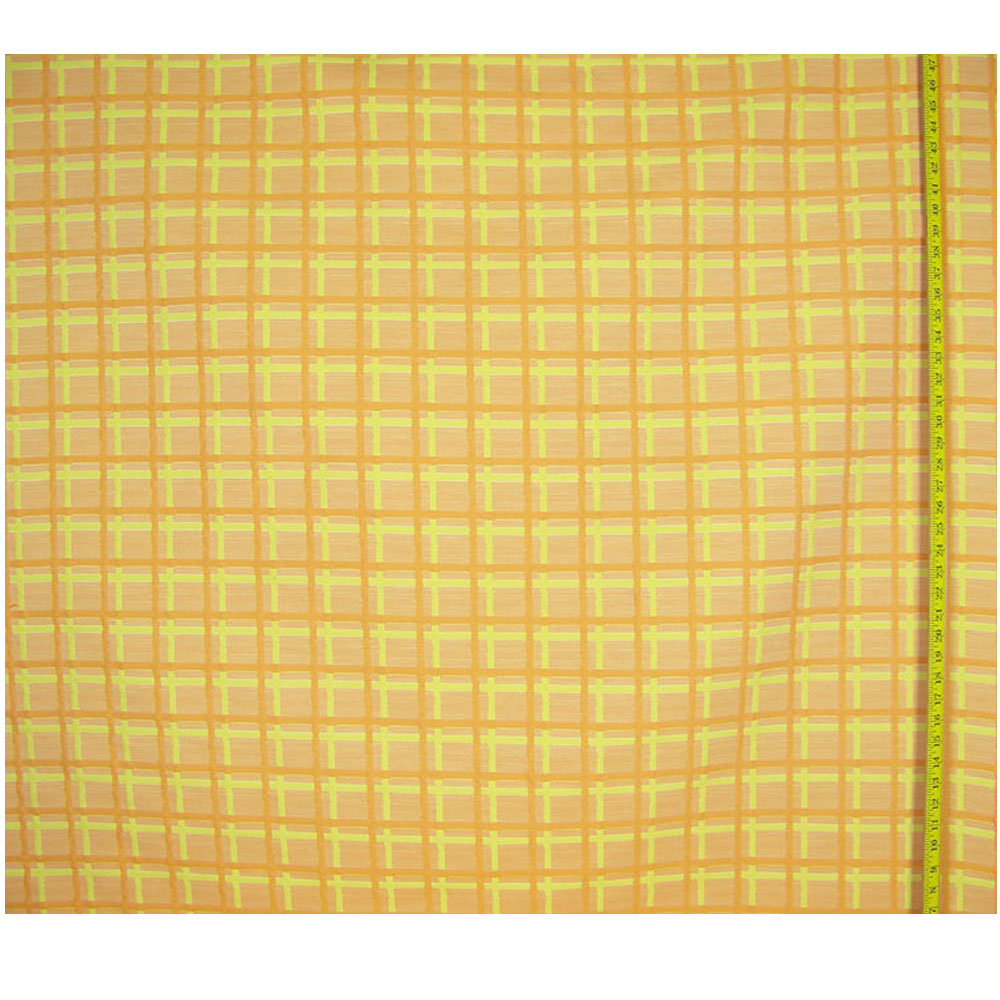 Vintage Square Ribbed Cotton Fabric