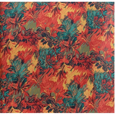Fall Leaves Cotton Crepon Fabric