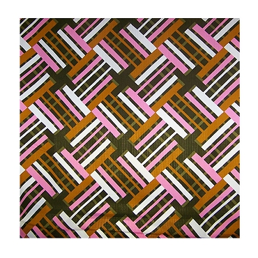 Retro Geometric Rectangular Cotton Fabric