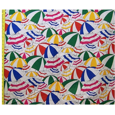 Logantex Sun 'N Fun Umbrella Cotton Fabric 78