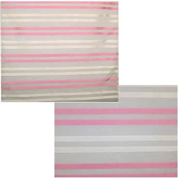 French Pink & White Stripe Silk Organza Fabric