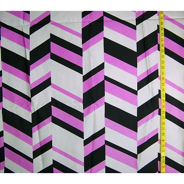 Op Art Silk Twill Fabric