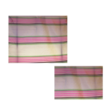 French Pink Stripe Silk Shantung Fabric
