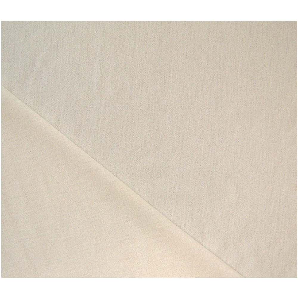 Landau Ivory Crepe Knit Wool Fabric
