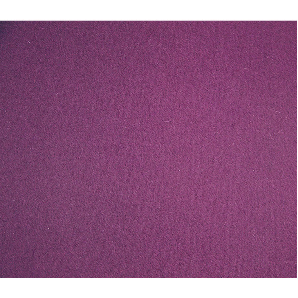 Purple Melton Wool Blend Fabric
