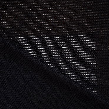 Black Summer Crochet Wool Blend Fabric