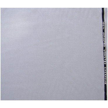 Imported Worsted Wool Gray Gabardine Fabric