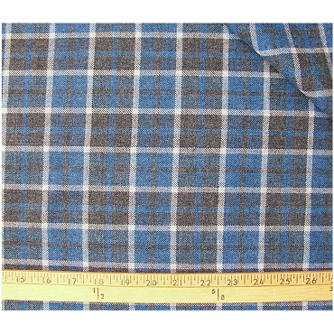 Merino Wool Plaid Fabric