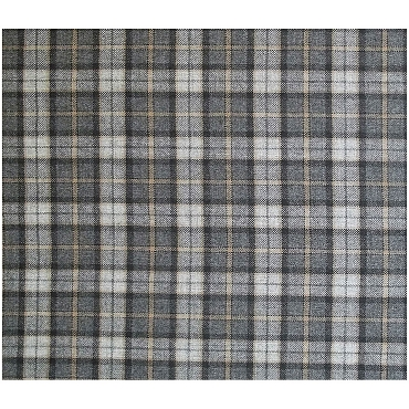 Dark Plaid Merino Wool Fabric