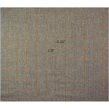 Gray Plaid Wool Fabric