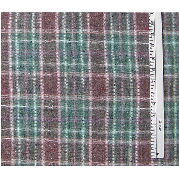 Speckled Plaid Wool Blend Fabric