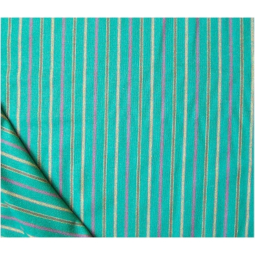 Stripes Pale Green Wool Blend Flannel Fabric