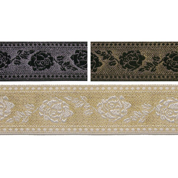 1-3/4 (44mm) Metallic Lame Jacquard Trim 4517