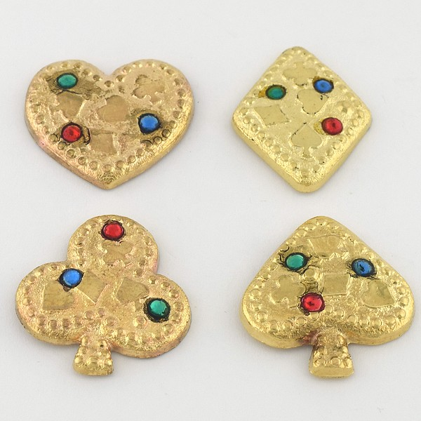 45L Jewel Gold Metal Button