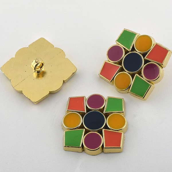 55L Jewel Gold Metal Button