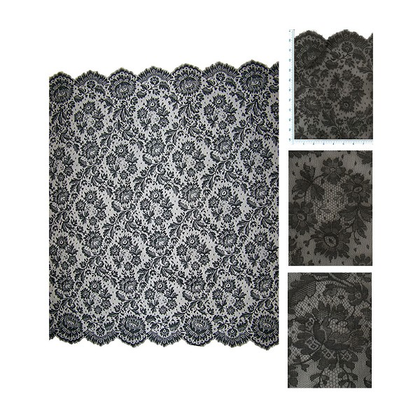 French Black Chantilly Lace 10174