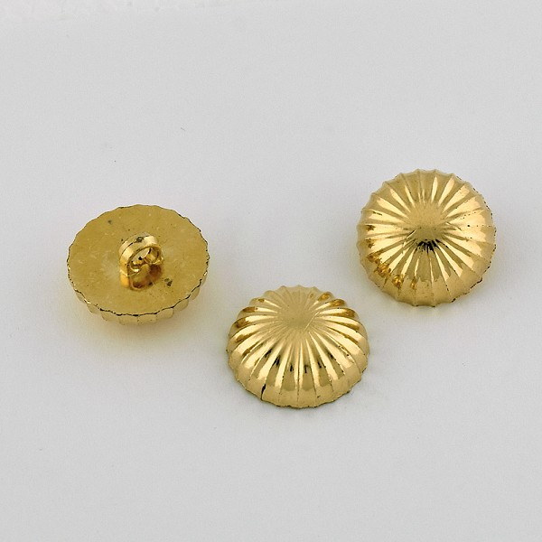 32L & 40L Round Dome Gold Metal Button