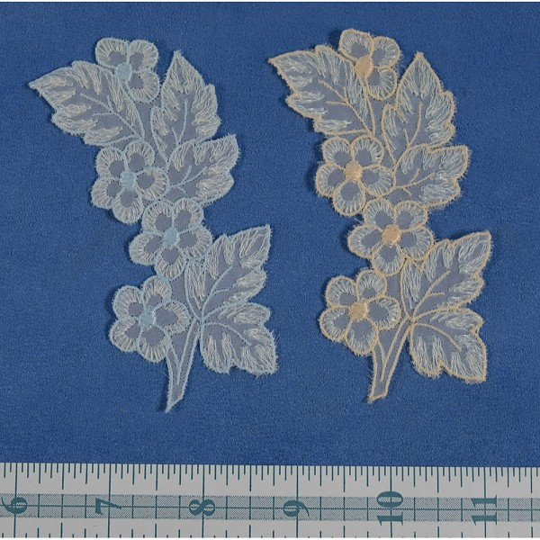 Vintage Swiss Flower and Leaves Applique (2)