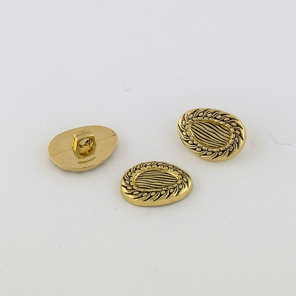30L (19mm) Novelty Gold Metal Button