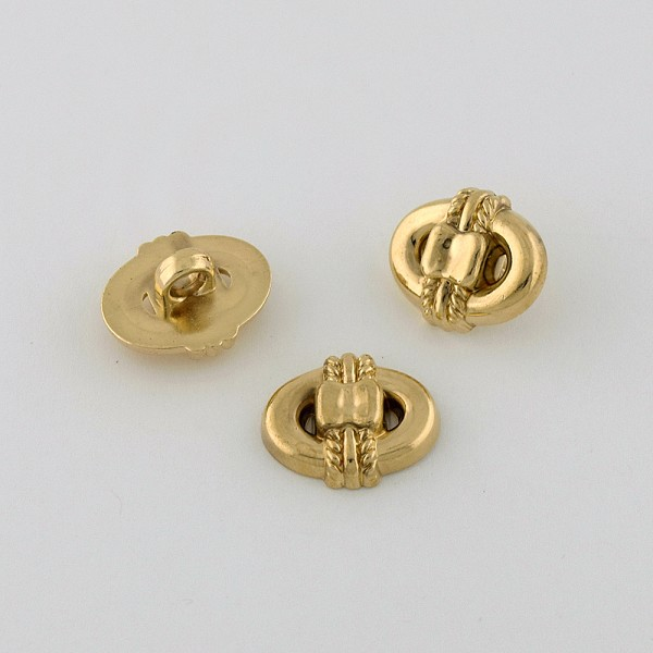30L (19mm) Knot Novelty Gold Metal Button
