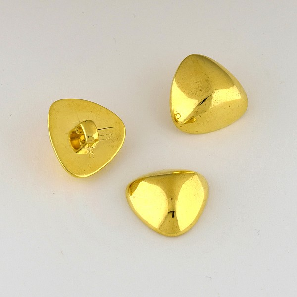 36L (23mm) Triangular Novelty Gold Metal Button