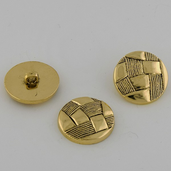40L (25.5mm) Novelty Black & Gold Metal Button