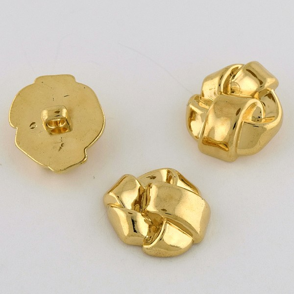 40L (25.5mm) Novelty Gold Metal Button