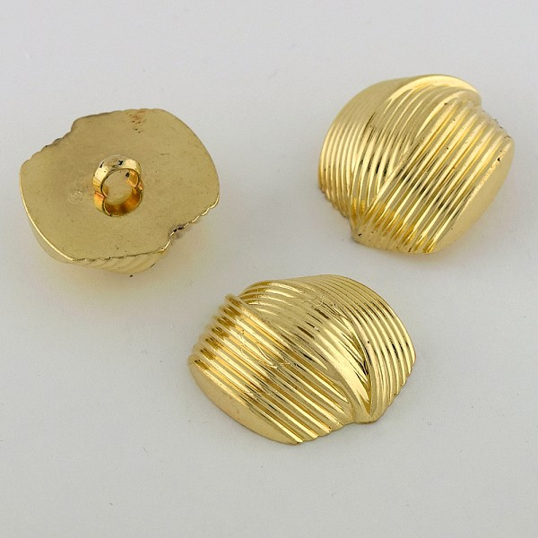 50L (32mm) Gold Metal Button