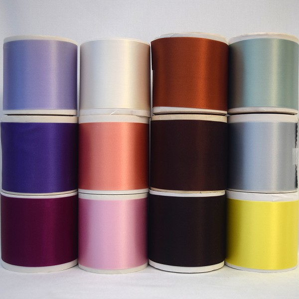3 inch  (76mm) Double Face Satin Ribbon (Acetate Blend)