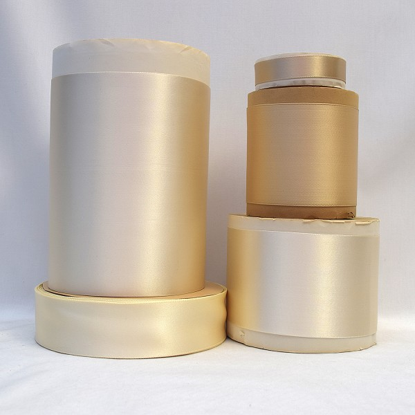 Rayon Double Faced Satin Ribbon (Creme Beige)