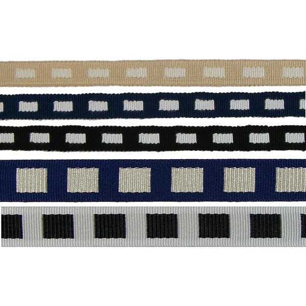 5/8 & 3/8 Insertion Like Stripe Grosgrain Ribbon 1058