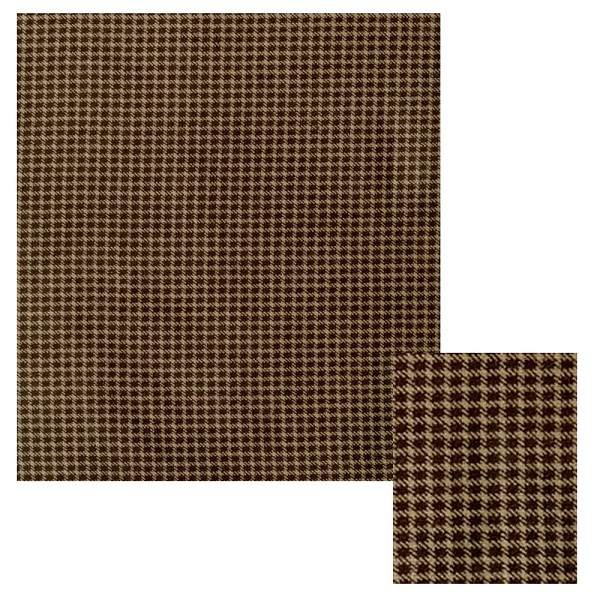 Brown Plaid Cotton Velveteen Fabric