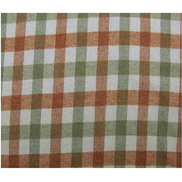 Wool Blend Plaid Fabric